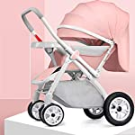 Ultralight Jogging Stroller,Foldable Pushchair Fabric Canopy Aluminum Frame Travel Buggy Rapid 4 Wheel Quick Fold Pushchair with Canopy from Birth to 25 Kg Suitable for Airplane