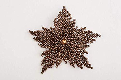 Trendy Brooch Handmade Jewelry Brown Designer Brooch Beaded Brooch for ()