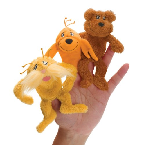 Manhattan Toy Dr. Seuss The Lorax Finger Puppet Set