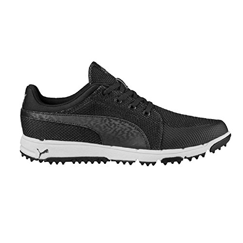 PUMA Mens Grip Sport Tech Golf Shoes (11, Black)