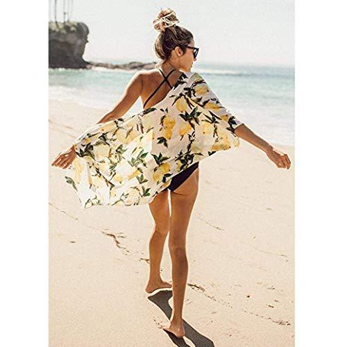 Unique Casuale Confortevole Manica Vintage Poncho Bikini Elegante Stampa Fashion Bikini Lunga Bohemian Cover Cardigan Kimono Estivi Stlie Donna Fiore Base Cardigan Up wYq068Z0
