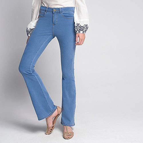 Calça Luigi Bertolli Feminino Flare Jeans Azul Claro