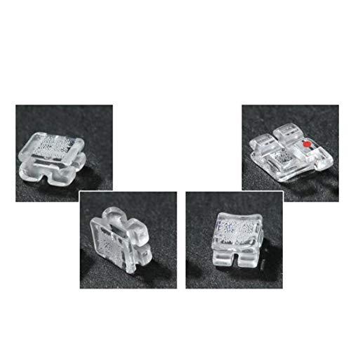 Carejoy Dental Orthodontic Sapphire Ceramic Roth Brackets 018/022 (018 345 with hook) by Carejoy (Image #3)