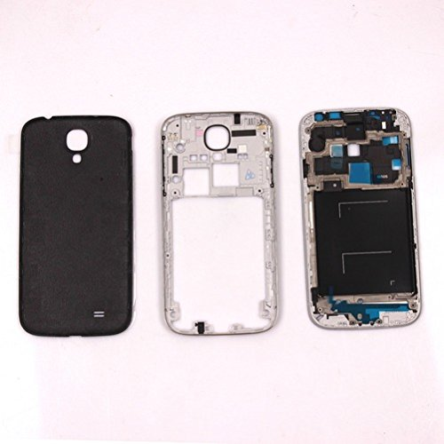 Middle Housing Assembly - Full Housing Front Middle Frame Assembly Cover+Tools For Samsung Galaxy S4 I9500 /S4 I9505/S4 I337/S4 I545 (Black For Samsung Galaxy S4 I9505)
