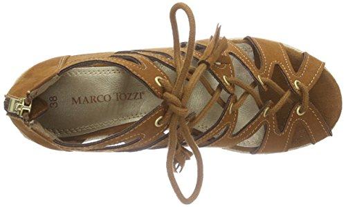 Marco Tozzi28370 - Sandalias Romanas Mujer Marrón - Braun (COGNAC 305)