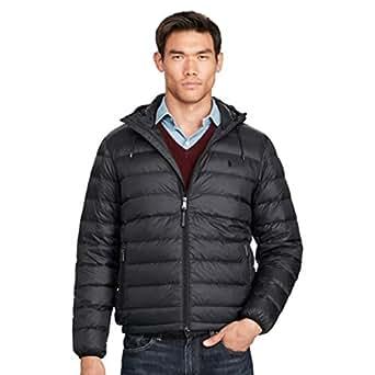 Polo Ralph Lauren Men Zip Up Hoodie Buffer Black Jacket