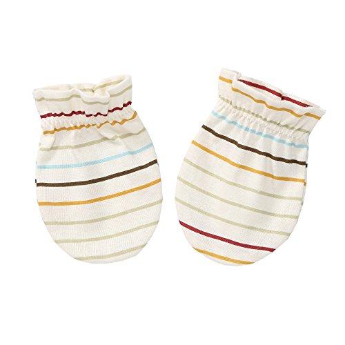 withorganic Scratch Free Newborn Mitten Organic Cotton Mitts Baby Glove for Infant (Baby Stripe, 1)