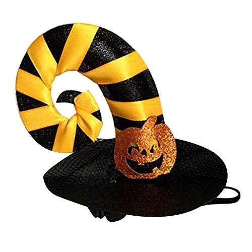 Aolvo Halloween Party Pet Cat Hat Pet Caps Pumpkin Spider Witch Hat Animal Pet Costume Halloween Decoration Cat Clothes Cap -