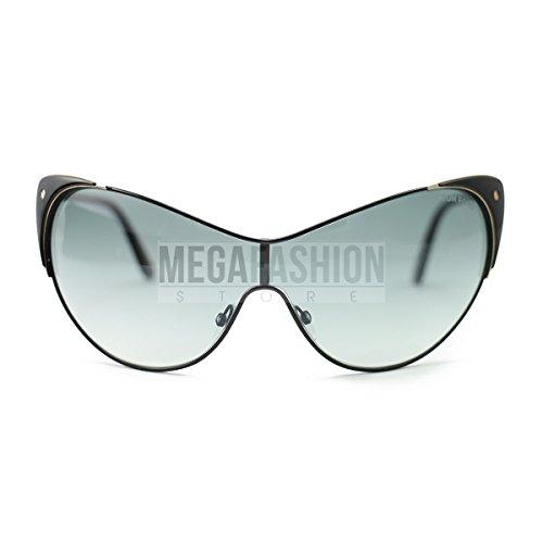 Tom Ford Women's FT0364 01B Vanda Sunglasses Black, 137 (Best Tom Ford Sunglasses For Round Face)
