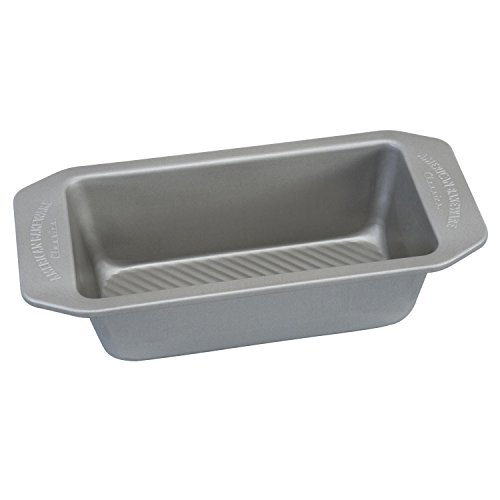 USA Pan 1140LF-2-ABC American Bakeware Classics 1 Pound Loaf Baking Pan, Aluminized Steel ()