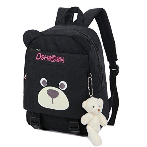 KAXIDY Schulrucksäcke Kinderrucksack Kleinkind Sicherheitsgurte Schultasche Rucksack (Rose-Rot) Schwarz