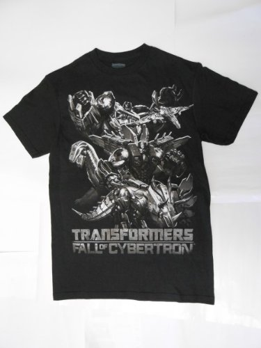 Transformers Fall Of Cybertron Men Black T-Shirt (S)