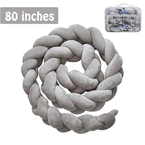 Luchild Baby Braided Crib Bumper Soft Snake Pillow Protective & Decorative Long Baby Nursery Bedding Cushion Knot Plush Pillow for Toddler/Newborn from Luchild