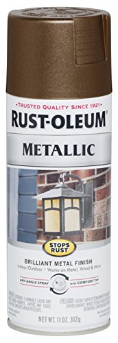 Rust-Oleum 286525 Stops Rust Metallic Spray Paint, 11 oz, Dark Copper