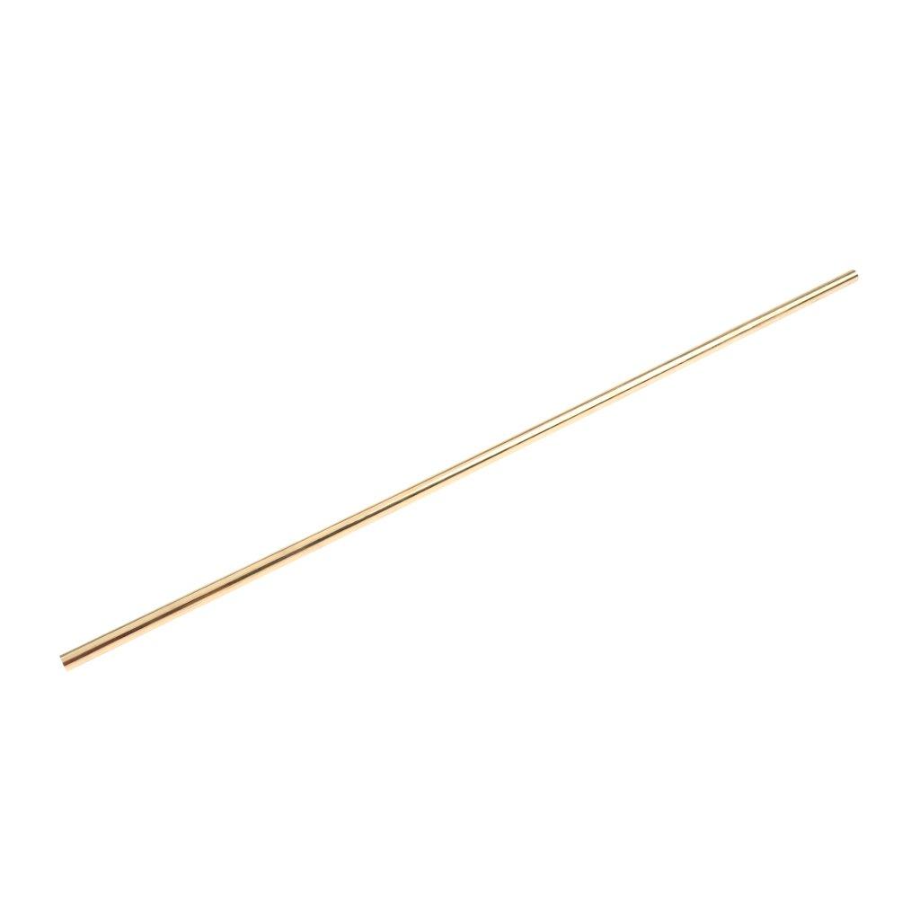 Brass Solid Round Rod Lathe Bar Stock, 9mm in Diameter 50cm/20 inch in Length, Brass Metal Raw Materials, Multipurpose by Gazechimp