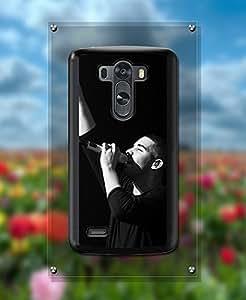 Singer Drake Pattern For LG G3 Funda Case Hart Feel Shell Protection & Vintage Famous Unique Design Printed Pattern Slim Ultra Hybrid Cell Phone Hard Funda Case