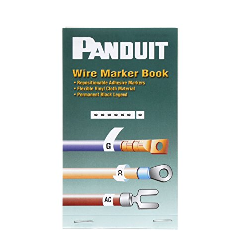 Panduit PCMB-3 Pre-Printed Wire Marker Book, Vinyl Cloth, .22 by 1.38-Inch L, 1 Thru 45 Legends Only