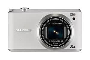 "Samsung WB350 - Cámara compacta de 16.5 Mp (pantalla táctil de 3"", zoom óptico 21x, estabilizador óptico, vídeo Full HD, WiFi), blanco"