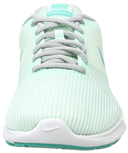 Nike Damen Flex Bijoux Fitnessschuhe Mehrfarbig (igloo / Clear Jade-wolf Grey)