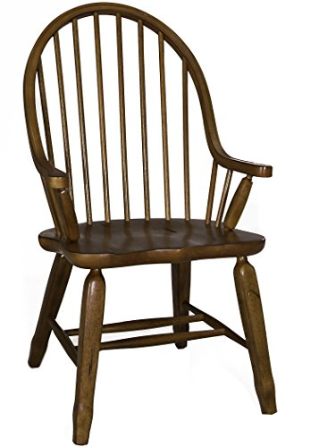 Liberty Furniture Treasures Dining Bow Back Arm Chair, Oak, W22 X D25 X H41, Rustic Oak