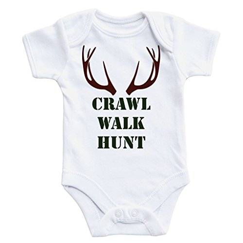 Buddy Walk - Daddy's Hunting Buddy, Baby Hunter, Crawl Walk Hunt, Hunting Shirt, Buck Bodysuit, Hunting Buddy, Baby Boy, Deer Outfit, Hunting Outfit (12 Months)