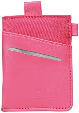 Leather Card Case Holder, BUBM RFID Blocking Slim Wallet/Business Card Wallet/Small Bags/Purse for Men and Women