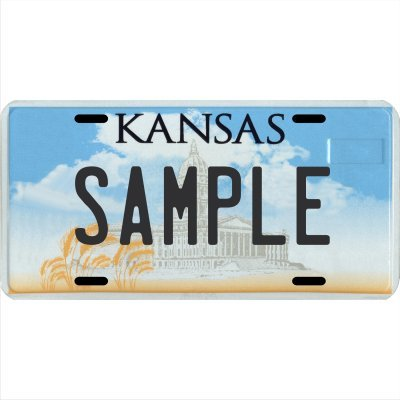 Custom Personalized Metal License Plate Your Name Your State - Choose from All 50 States (Kansas, 6