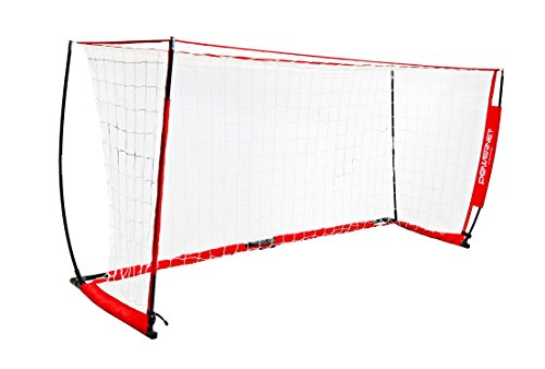 PowerNet Soccer Goal 12x6 Portable Bow Style (Goal Sporting Goods Nylon Football)