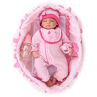 Kaydora Reborn Baby Doll Girl, 16 inch Soft Weighted Body, Cute Lifelike Handmade Silicone Sleeping Doll