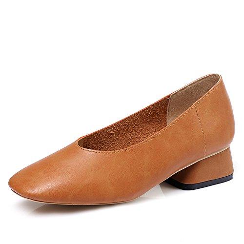 Commuer shoes Dans Version Carrés D'été rough B D'asakuchi Femelle Coréenne Chaussures Les Vintage vqf8nq
