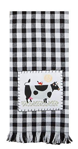 Just Jazzle Kay Dee Designs Farm Charm Farmhouse Cow Kitchen Towel and Oven Mitt Bundle, Set of 3