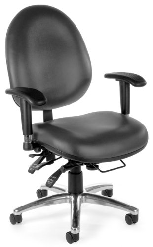 (OFM 24/7 Vinyl Chair, Charcoal)