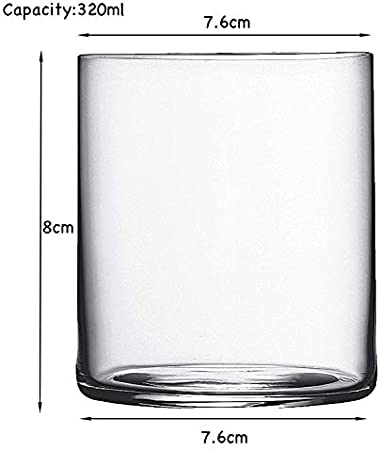 4Pcs Ultra-Thin Heat-Resistant Glass Cocktail Glass Water Glass Whiskey Glass Cold Drink Juice Glass Smoothie Glass-Clear Set Of 4