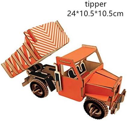 Cool-Running Carro De Madera Rompecabezas 3D Rompecabezas 3D Rompecabezas DIY Montado A Mano Modelo Rompecabezas Rompecabezas Piezas Hechas A Mano F: Amazon.es: Juguetes y juegos