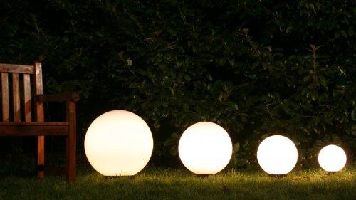 Set sfere luminose 4 globi da esterno Illuminazione da giardino ...