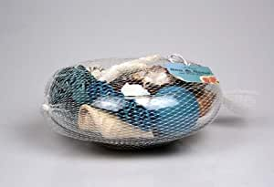 Seashell Potpourri in Elegant Decorative Glass Bowl (Aqua)