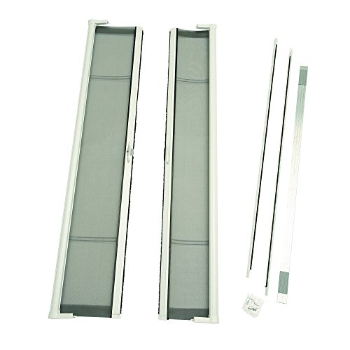 Door Outswing Hardware - ODL Brisa Premium Retractable Screen Kit for 78 in. Inswing/Outswing Double Doors - White