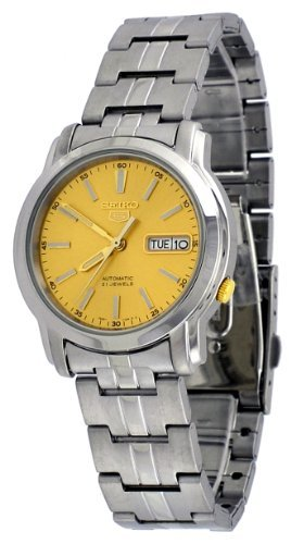 Seiko Automatic Champagne Dial Stainless Steel Mens Watch SNKL81