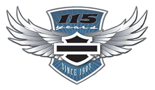 Harley-Davidson 115th Anniversary Pin Core Winged Bar & Shield, Silver 290151