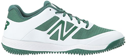 New Balance Herren T4040v4 Rasen Baseball-Schuh Grün Weiß