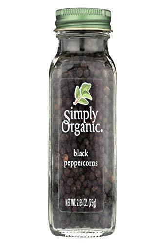 Simply Organic Black Whole Peppercorns Seasoning, 2.65 Ounce - 6 per case. by Simply Organic