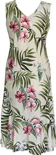 Island Breathtaking Sleeveless RJC Getaway Tea Beige Women's Hawaiian Length Dress qZxEg5wEYp