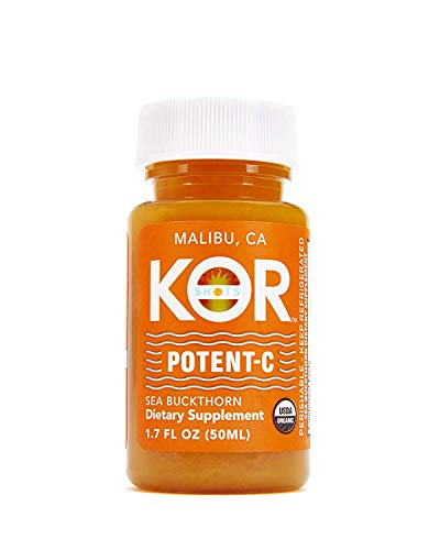 Kor Shots - Potent-C - Organic Cold Pressed, Dietary Supplement, Immunity Boosting, Vitamin-C, Energy Juice Shot - 12 Pack