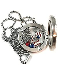 Pray for Our Military I Love You Army Navy Air Force Marines Love You Mom Son Living Floating Memory Necklace