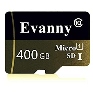 400GB Micro SD SDXC Card High Speed Class 10 Memory SD Card with SD Adapter