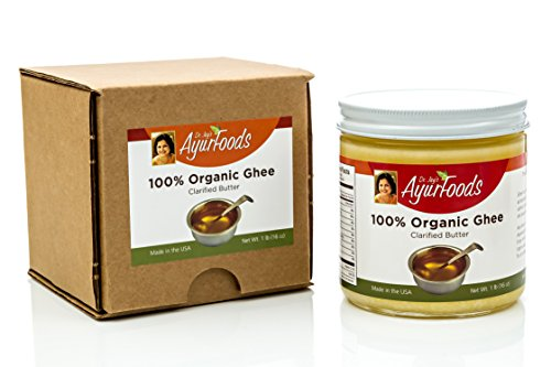 Dr. Jay's 100% Organic Ghee (Grass Fed), 1 Pound Jar, BEST Clarified Butter Artisan Crafted in Small Batches, Pure Non-GMO Ingredients, Tasty Healthy Oil for Paleo, Ayurvedic & Gluten-FREE Cooking by Dr. Jay's Ayurfoods (Image #4)