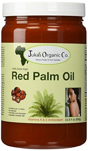 Plaque Palm - Juka's Red Palm Oil (100% Organic & Natural From Africa)(33.8 FL OZ)