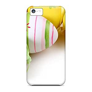 NikRun Snap On Hard Case Cover Easter Painted Eggs Wallpaper Protector For Iphone 5c