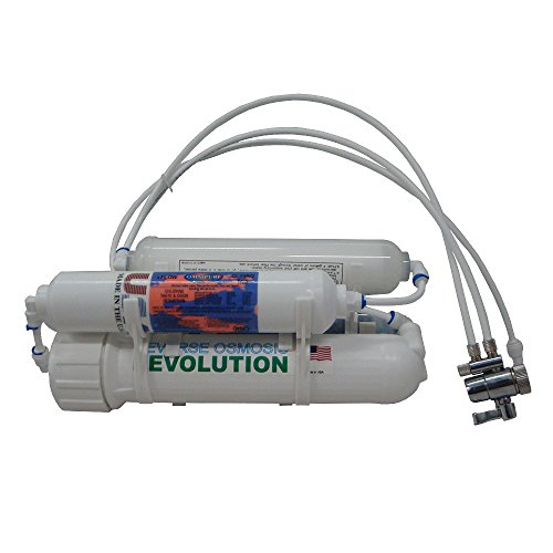 4-stage Alkaline Countertop Reverse Osmosis RO Revolution Water Purification System, 75 GPD, raise pH up to 8.5-9, kitchen faucet connection by Reverse Osmosis Revolution
