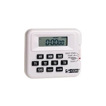 CDN temporizador de cocina Digital y reloj 4 Event programable alarma fuerte Clip para cinturón: Amazon.es: Hogar